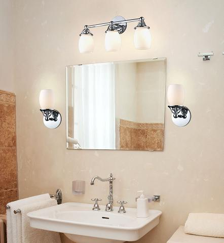 Newburgh 3 Light Vanity Light And Matching Sconces From ELK Lighting