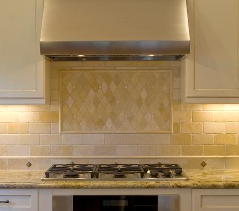 Stone Mosaic Backsplash (by Design Savvy)