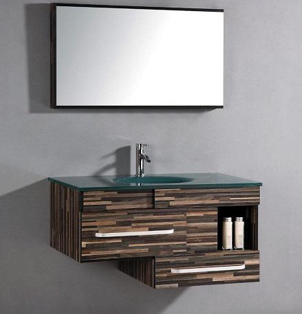 Asymmetrical Wall Mounted Bathroom Vanity From Legion Furniture
