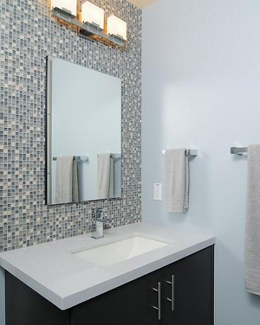 Bathroom Mosaic Tile Accent Wall (by Kerrie L Kelly)