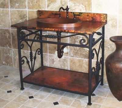Charlotte Copper And Wrought Iron Bathroom Vanity Sink From Sierra