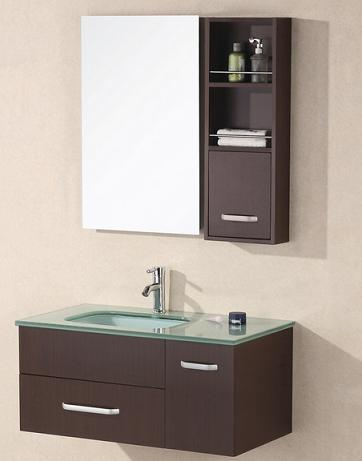 christine wall mounted sink with storage bathroom mirror from design element - Bathroom Mirrors Design