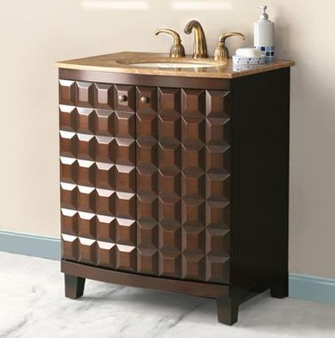 Florence Bathroom Vanity In Antique Walnut From Virtu USA