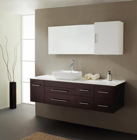 Justine Minimalist Rubberwood Bathroom Vanity From Virtu USA