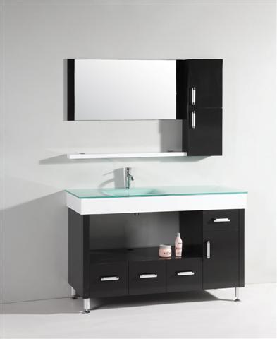 Modern Asymmertrical Bathroom Vanity And Mirror From Legion Furniture
