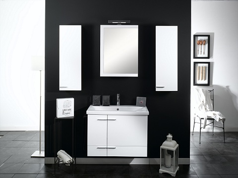 Simple NS9 Bathroom Vanity With STorage Cabinets From Iotti