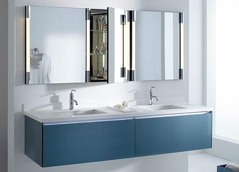 Single Drawer Deep Bathroom Vanity In Ocean From Robern