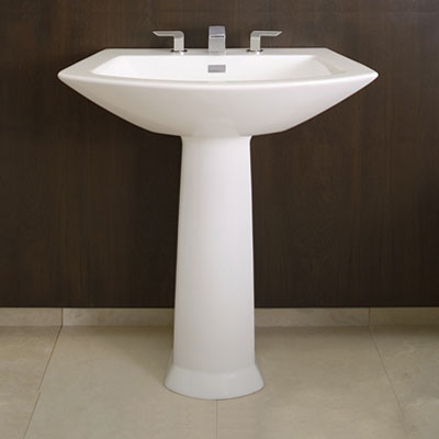 Soiree Modern Pedestal Sink From Toto. Pedestal Sinks  A Surprising Solution For Any Bathroom