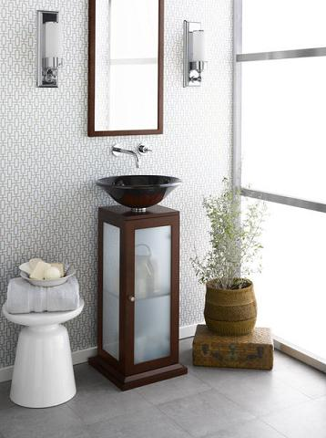Solis Glass Pedestal Cabinet From RonBow