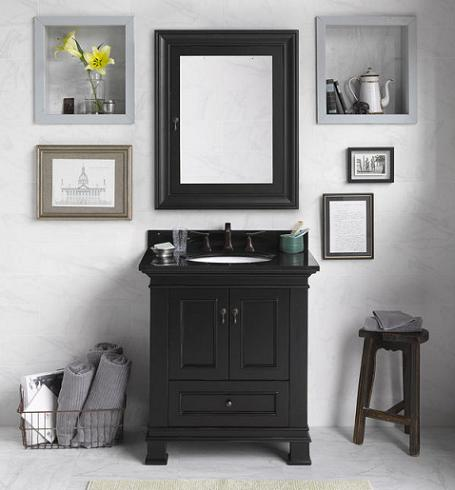 Venice Transitional Bathroom Vanity From RonBow