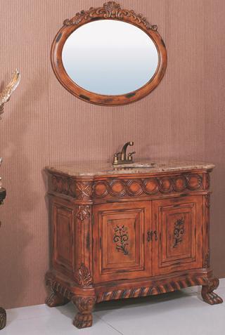 antique bathroom vanity set with brass undermount sink from legion furniture