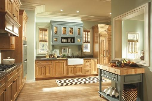 Custom Kitchen Cabinets With Over The Sink Accent Cabinet And Island By Paul Anater