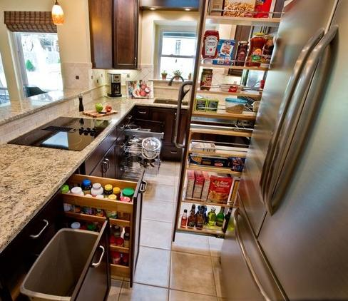 Small Kitchen Makes The Most Of Available Space With Pull Out Cabinets (by  Curb Appeal Part 29