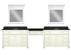 vanity with makeup station. Cottage Retreat 120 Inch Double Vanity With Make Up Station From Sagehill  Design Six Bathroom Vanities That As Dressing Tables