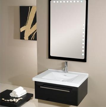 Delightful Fly Backlit Mirror With Matching Vanity From Iotti