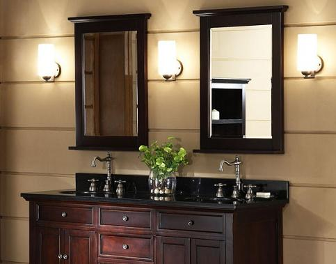 Brown Framed Bathroom Mirrors bathroom mirrors - framed, frameless, or functional?