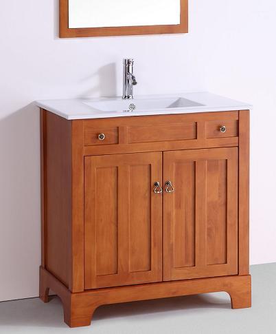 Golden Oak Shaker Bathroom Vanity From Legion Furniture