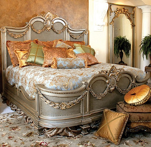 Old World Bedrooms Maison Royale Bed I Jm Jcbd004 Ss From Afd Cozy - Bohemian-bed-by-cinova-busnelli