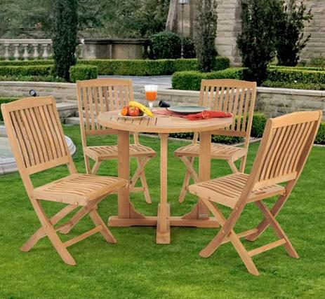 5 Piece Teak Dining Set From Caluco