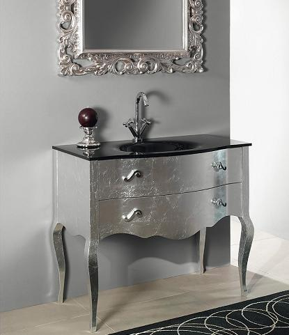 Boheme Bathroom Vanity In Silver Leaf From Iotti
