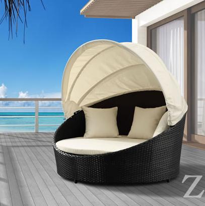 Colva Canopy Outdoor Bed From Zuo Modern