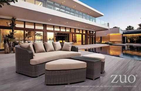 Cove Beach Lounge Set From Zuo Modern