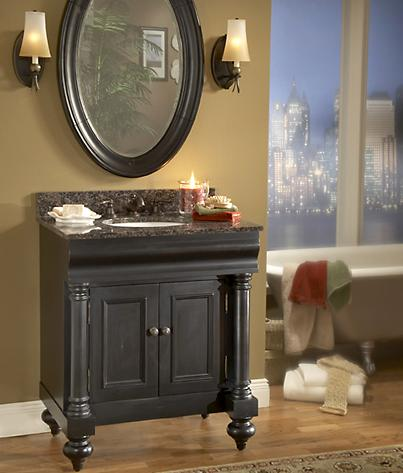 black 36 inch bathroom vanity. Guild Hall 36 Inch Bathroom Vanity From Kaco Weathered Black Vanities  Getting A Grunge Free Aged Finish