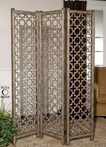 Quatrefoil Floor Screen From Uttermost