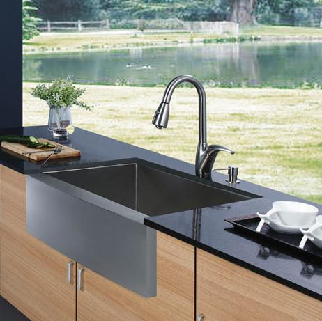 stainless steel farmhouse sink from vigo