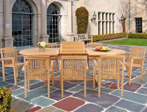 Teak 9 Piece Dining Set From Caluco