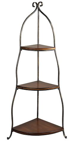 Three Tier Corner Shelving Unit From Sterling Lighting