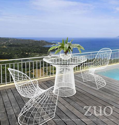 Wire Frame Furniture That Mimics Your Patio Railing Creates A Transparent,  Three Dimensional Look That