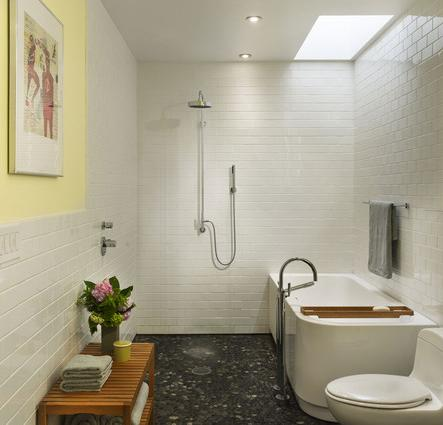 A Wet Bathroom Tiled Head To Toe Creates A Totally Barrier Free Design That Makes A