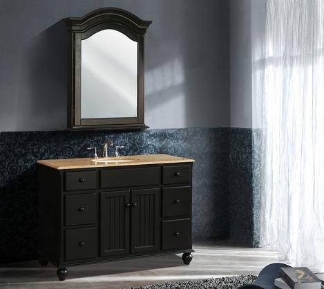 alvina single sink black beadboard bathroom vanity from stufurhome - Bathroom Beadboard