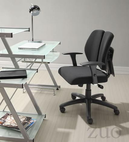 Aqua Office Chair With Customizable Back Support And Adjustable Arms From Zuo Modern