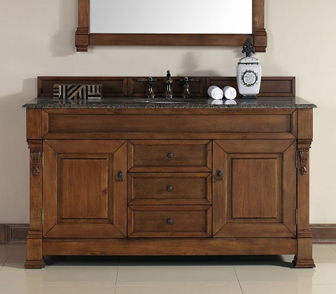 Brookfield 60  Single Bathroom Vanity 147 114 5371 from James Martin  Furniture. Solid Wood Bathroom Vanities From James Martin Furniture