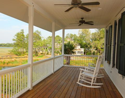Covered Porch With Ceiling Fans And Rockers (by Gerald D. Cowart)