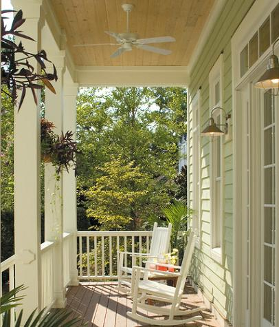 Front Porch With Ceiling Fan (by Tongue and Groove)