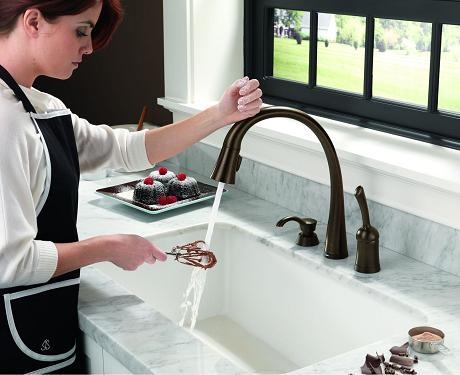 Pilar Touch 2O Faucet In Venetian Bronze From Delta