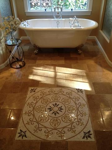 A Tile Medallion Offers Supreme Luxury, And Your Friends Will Never Know You Installed It Yourself (by Courthouse Contractors)