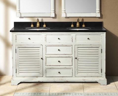 Antique White Bathroom Cabinets deals & ideas - weathered bathroom vanities for a shabby chic