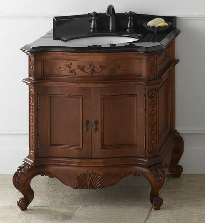 bordeaux antique bathroom vanity from ronbow