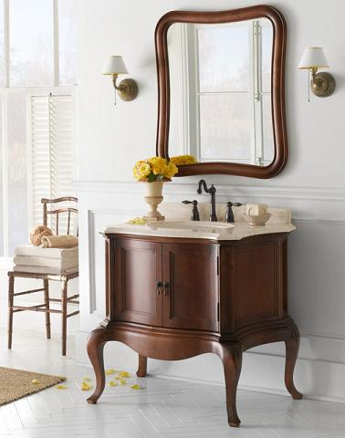 chardonnay antique bathroom vanity from ronbow