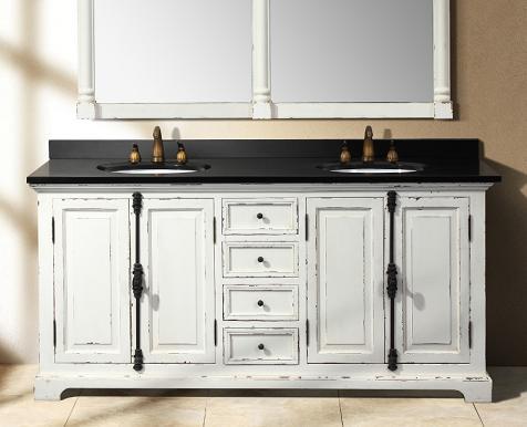 Genna Antique Qhite Double Bathroom Vanity From James Martin Furniture