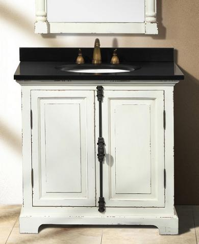 genna antique white single bathroom vanity from james martin furniture - Bathroom Cabinets Shabby Chic