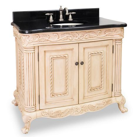 Attirant VAN011T Antique White Ornate Bathroom Vanity From Hardware Resources