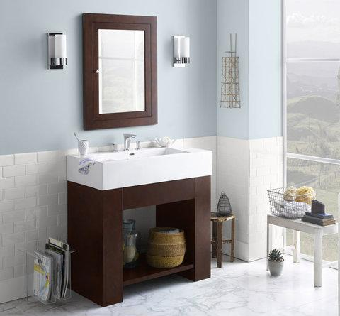 Superb Zenia 36 Inch Bathroom Vanity With Ceramic Integrated Sink From RonBow