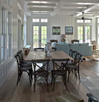 Cross Backed Dining Chairs Have A Simple, Old Fashioned Rustic Appeal (by Geoff Chick & Associates)