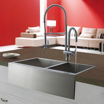Farmhouse Style Zero Radius Kitchen Sink From Vigo Industries