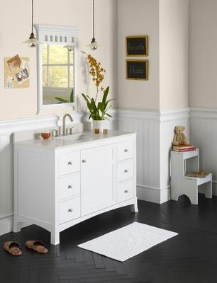 Hampton White Bathroom Vanity From Ronbow